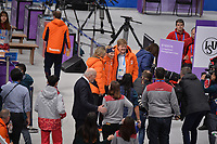 OLYMPIC GAMES: PYEONGCHANG: 10-02-2018, Gangneung Oval, Long Track, 3000m Ladies, Queen Maximá, Carlijn Achtereekte (NED), King Willem-Alexander, ©photo Martin de Jong