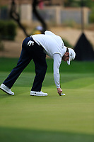 Brandon Grace (RSA) on the 3rd during the final round of the Waste Management Phoenix Open, TPC Scottsdale, Scottsdale, Arisona, USA. 03/02/2019.<br /> Picture Fran Caffrey / Golffile.ie<br /> <br /> All photo usage must carry mandatory copyright credit (&copy; Golffile | Fran Caffrey)