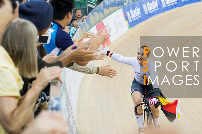 Riders compete on the Women's Sprint Final Race 2 during the 2017 UCI Track Cycling World Championships on 14 April 2017, in Hong Kong Velodrome, Hong Kong, China. Photo by Chris Wong / Power Sport Images