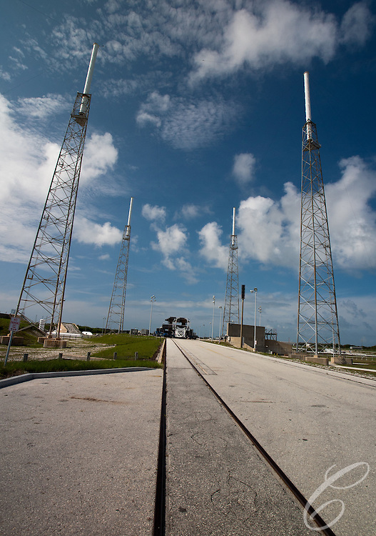 SpaceX's Launch Complex 40   at  Cape Canaveral, Florida.