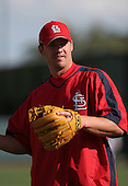 Scott Rolen of the St. Louis Cardinals vs. the Atlanta Braves March 16th, 2007 at Champion Stadium in Orlando, FL during Spring Training action.  Photo copyright Mike Janes Photography 2007.