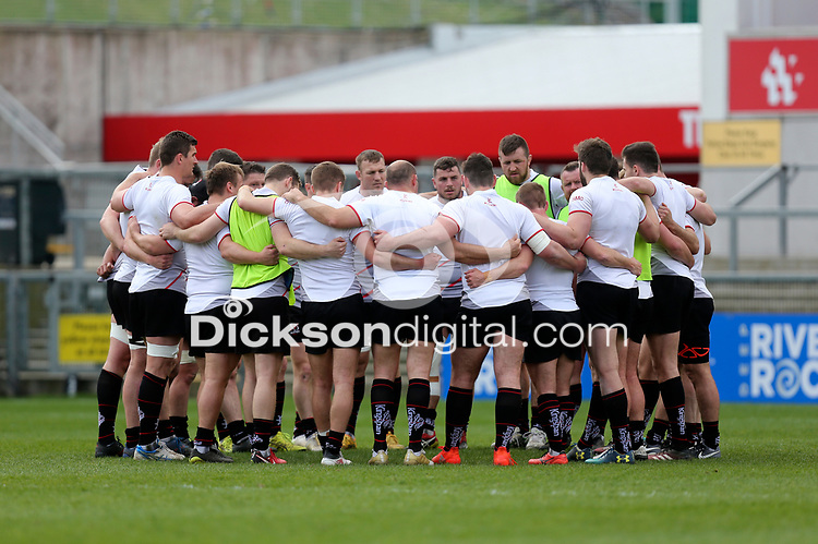 Friday 20 April 2018 | Ulster Rugby Captain's Run<br /> <br /> Ulster gather during Captain's Run at Kingspan Stadium, Ravenhill Park Belfast, Northern Ireland. Photo by John Dickson / DICKSONDIGITAL