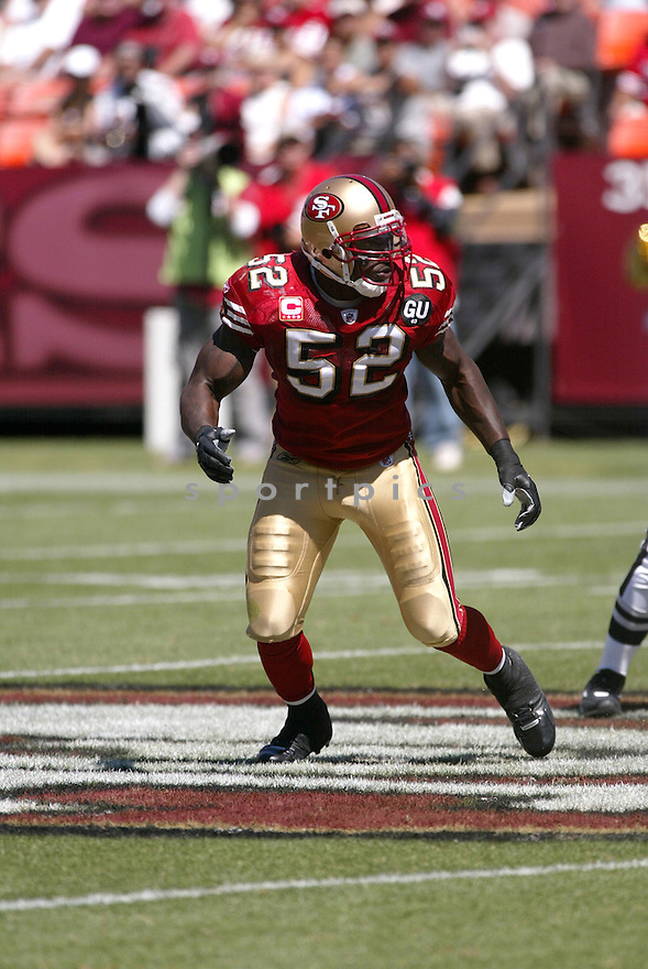 PATRICK WILLIS, of the San Francisco 49ers, in action during the  49ers game against the  Arizona Cardinals  on September 7, 2008 in San Francisco, California...The San Francisco 49ers win 23-13