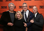 Harvey Fierstein, Carole Rothman, Moises Kaufman and Richie Jackson attends the Off-Broadway Opening Night After Party for the Second Stage Production on 'Torch Song' on October 19, 2017 at Copacabana in New York City.