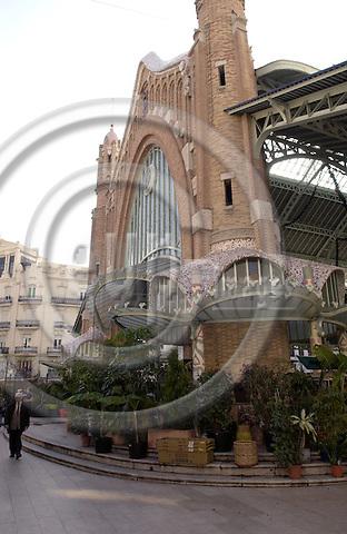 Valencia-Spain, 27 December 2007---Art nouveau at the Mercado de Colón (Colon); architecture, culture---Photo: Horst Wagner / eup-images