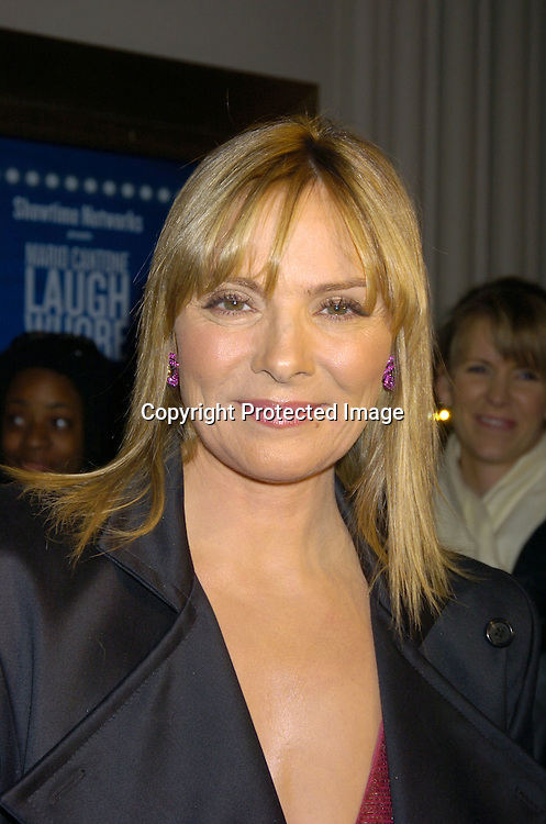 """Kim Cattrall ..at the Broadway Opening of """" Mario Cantone: Laugh Whore""""  on October 24, 2004 at the Cort Theatre. ..Photo by Robin Platzer, Twin Images .."""