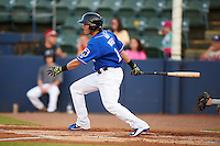 Biloxi Shuckers outfielder Kyle Wren (11) at bat during a game against the Birmingham Barons on May 23, 2015 at Joe Davis Stadium in Huntsville, Alabama.  Birmingham defeated Biloxi 2-0 as the Shuckers are playing all games on the road, or neutral sites like their former home in Huntsville, until the teams new stadium is completed in early June.  (Mike Janes/Four Seam Images)
