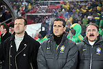 15 JUN 2010: Dunga (BRA) (left). The Brazil National Team defeated the North Korea National Team 2-0 at Ellis Park Stadium in Johannesburg, South Africa in a 2010 FIFA World Cup Group G match.