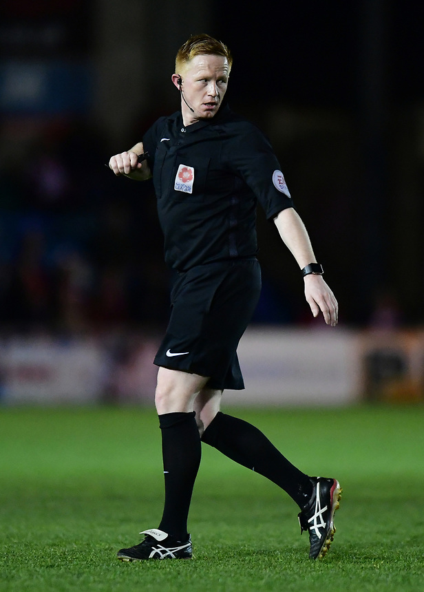 Referee Alan Young<br /> <br /> Photographer Chris Vaughan/CameraSport<br /> <br /> Vanarama National League - Lincoln City v Chester - Tuesday 11th April 2017 - Sincil Bank - Lincoln<br /> <br /> World Copyright &copy; 2017 CameraSport. All rights reserved. 43 Linden Ave. Countesthorpe. Leicester. England. LE8 5PG - Tel: +44 (0) 116 277 4147 - admin@camerasport.com - www.camerasport.com