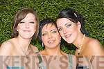 ISK: Siobhan Casey,Emma Carroll and Coleen Naylor who attended the ISK Killorglin Debs in the Abbey Gate Hotel Tralee on Friday night....