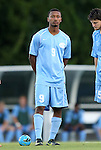 21 September 2012: UNC's Jordan McCrary. The University of North Carolina Tar Heels defeated the University of Virginia Cavaliers 1-0 at Fetzer Field in Chapel Hill, North Carolina in a 2012 NCAA Division I Men's Soccer game.