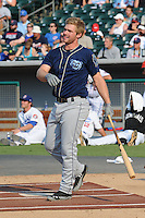 Mobile Bay Bears third baseman Matt Davidson #15 swings at a pitch during Home Run Derby before the Southern League All-Star Game  at Smokies Park on June 19, 2012 in Kodak, Tennessee.  The South Division defeated the North Division 6-2. (Tony Farlow/Four Seam Images).