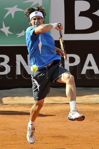 19.05.2012. Rome, Italy.  David Ferrer of Spain Italian Open tennis tournament, Rome, Italy.
