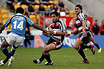 Niva Ta'auso on his way to scoring his first half try. Air NZ Cup week 4 game between the Counties Manukau Steelers and Northland played at Mt Smart Stadium on the 19th of August 2006. Northland won 21 - 17.
