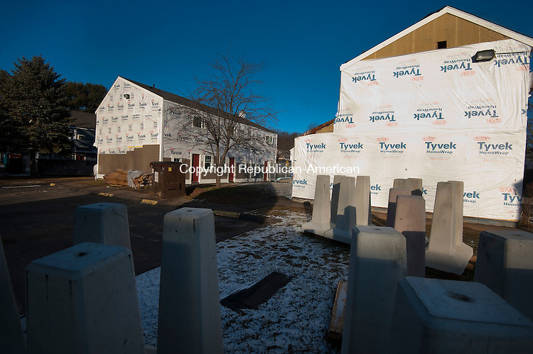 WATERBURY, CT--- -011316JS06--Work continues on the $4.8 million renovation to the Frost Homestead on Mortimer Street in Waterbury on Wednesday. Construction began in October and is scheduled to be completed in August or September. <br />  Jim Shannon Republican-American