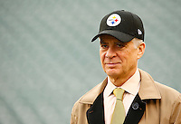 Pittsburgh Steelers President Art Rooney II looks on prior to the game against the Cincinnati Bengals at Paul Brown Stadium on December 12, 2015 in Cincinnati, Ohio. (Photo by Jared Wickerham/DKPittsburghSports)