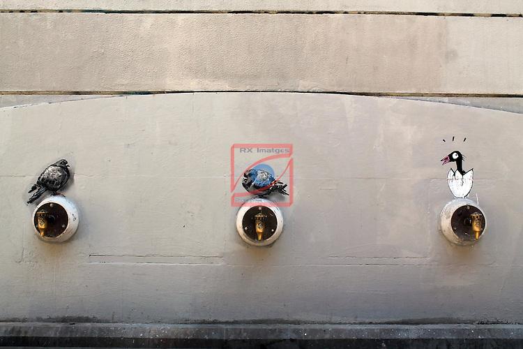 Street Art-Graffittis.<br /> Barcelona - El Born.
