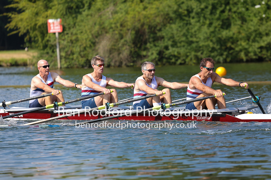 Race: 233  MasD.4x-  Semi-Final<br /> 84  St Ives Rowing Club<br /> 85  Walton Rowing Club<br /> <br /> Henley Masters Regatta 2018 - Saturday<br /> <br /> To purchase this photo, or to see pricing information for Prints and Downloads, click the blue 'Add to Cart' button at the top-right of the page.