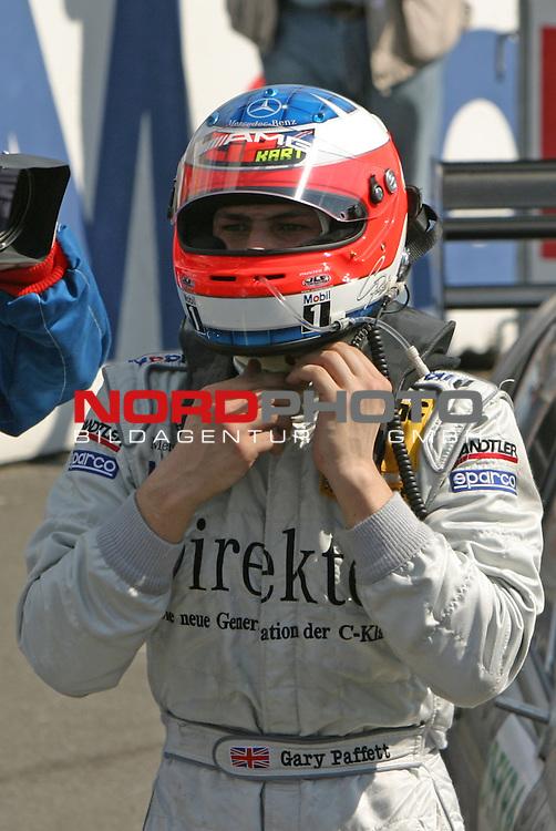 DTM 2004 - Hockenheimring<br />   Gary Paffett (HWA) der Sieger nach dem Rennen<br /> Foto &copy; nordphoto / Sabine Lutzmann<br />  *** Local Caption *** Foto ist honorarpflichtig! zzgl. gesetzl. MwSt.<br /> <br />  Belegexemplar erforderlich<br /> <br /> Adresse: nordphoto<br /> <br /> Georg-Reinke-Strasse 1<br /> <br /> 49377 Vechta