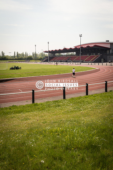 Running track, Basildon Sporting Village, Essex UK