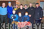 SMILES: Smiles by the Murnane Family, Kilflynn as they won the Baily Cup on Thursday at Tralee Coursing at Ballybeggan. Brendan Nolan presenting the Baily Cup to Paddy Murnane also in pic were, Darragh, Kay, Sean, Aaron Murnane, Mike Neenan, Edward O'Sullivan, Danny Caffrey..    Copyright Kerry's Eye 2008
