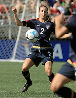 Heather Mitts. The USA defeated Australia, 5-4, in an international friendly at Legion Field in Birmingham, Alabama on May 3, 2008.