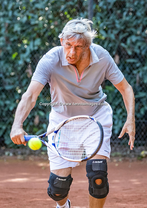 Hilversum, The Netherlands, September 2, 2018,  Tulip Tennis Center, NKS, National Championships Seniors, Men's 70+ final: Hans Adama Van Scheltema (NED) <br />