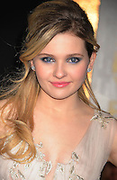 """HOLLYWOOD, CA - DECEMBER 05: Abigail Breslin arrives at the Los Angeles premiere of """"New Year's Eve"""" at Grauman's Chinese Theatre on December 5, 2011 in Hollywood, California."""