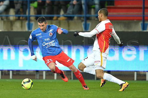 04.03.2016. Caen, France. French League 1 football. Caen versus Monaco.  JULIEN FERET (caen) turns away from a tackle