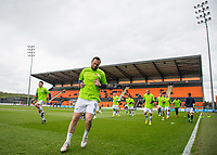 Wycombe players warm up during the Sky Bet League 2 match between Barnet and Wycombe Wanderers at The Hive, London, England on 17 April 2017. Photo by Andy Rowland.