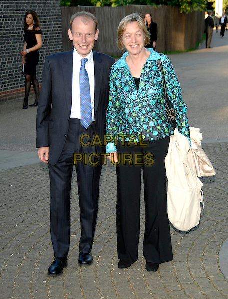 "ANDREW MARR & GUEST.Attends journalist and former Vanity Fair editor Tina Brown's Book Launch Party for ""The Diana Chronicles"", .a biography of The Princess Of Wales, held at The Serpentine Gallery, London, England, June 18th 2007. full length black suit.CAP/PL.©Phil Loftus/Capital Pictures"