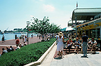 Baltimore:  #3.  Inner Harbor--Pavilion area. Photo '85.