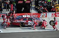 Mar 1, 2008; Las Vegas, NV, USA; Nascar Nationwide Series driver Tony Stewart pits during the Sams Town 300 at the Las Vegas Motor Speedway. Mandatory Credit: Mark J. Rebilas-US PRESSWIRE
