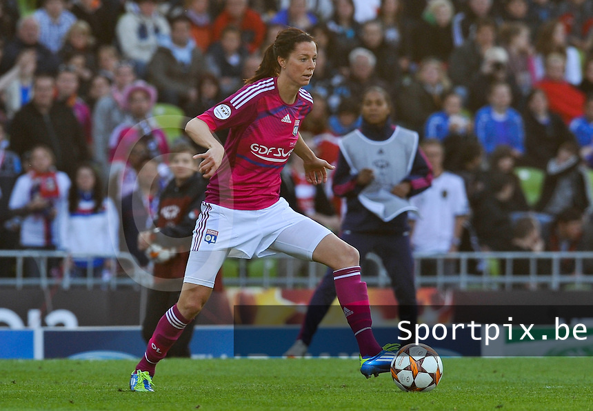Uefa Women 's Champions League Final 2012 at Olympiastadion Munchen : Olympique Lyon -  FC Frankfurt : Lotta Schelin .foto DAVID CATRY / JOKE VUYLSTEKE / Vrouwenteam.be