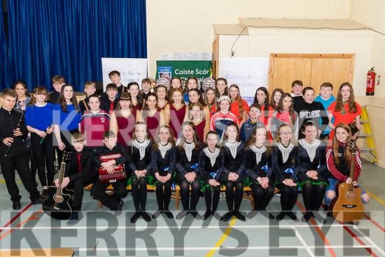 Participants taking part in Scór na nÓg 2019 in Glenbeigh/Glencar GAA Sports Hall on Sunday