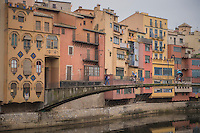 The landmark houses of Girona/Spain