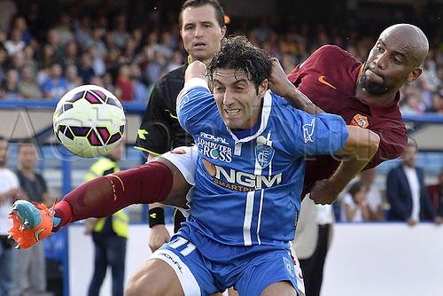 13.09.2014. Empoli, Tuscany, Italy.  Serie A football. Empolie versus AS Roma. Daniele Croce Empoli, Douglas Maicon AS Roma