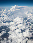 Clouds and storms over western Missouri from a window seat