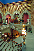 Designed by Philadelphian Frank Furness, the Pennsylvania Academy of Fine Arts is one of the most magnificent Victorian buildings in the country. The Washington Foyer leads to the main galleries. Philadelphia Pennsylvania United States.