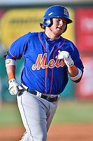 Kingsport Mets first baseman Dash Winningham (10) rounds the bases after hitting a home run during a game against the  Johnson City Cardinals on June 25, 2015 in Johnson City, Tennessee. The Mets defeated the Cardinals 10-8 (Tony Farlow/Four Seam Images)