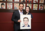 Santino Fontana with wife  Jessica Fontana during the Santino Fontana portrait unveiling at Sardi's on May 21, 2019 in New York City.