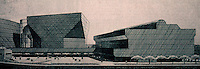 Cesar Pelli: Pacific Design Center Expansion Plan 9/15/85. Cesar Pelli & Gruen & Assoc. completed--early 1988.