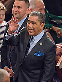 United States Representative Adriano Espaillat (Democrat of New York) waves to the gallery from the floor of the US House of Representatives on his first day in office in the US Capitol in Washington, DC on Tuesday, January 3, 2017.<br /> Credit: Ron Sachs / CNP<br /> (RESTRICTION: NO New York or New Jersey Newspapers or newspapers within a 75 mile radius of New York City)