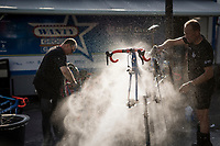 Team Wanty - Groupe Gobert's post-race bike cleaning<br /> <br /> 115th Paris-Roubaix 2017 (1.UWT)<br /> One Day Race: Compiègne › Roubaix (257km)