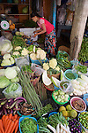 Vegetable Stall, Gyee Zai Market