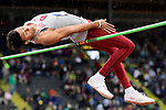 EUGENE, OR - JUNE 8: Vernon Turner of the Oklahoma Sooners competes in the high jump during the Division I Men's Outdoor Track & Field Championship held at Hayward Field on June 8, 2018 in Eugene, Oregon. (Photo by Jamie Schwaberow/NCAA Photos via Getty Images)