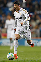 04.03.2012 SPAIN - UEFA Champions League Quarter-Final 2nd  match played between Real Madrid CF vs Apoel FC (5-2) at Santiago Bernabeu stadium. The picture show Cristiano Ronaldo (Portuguese forward of Real Madrid)