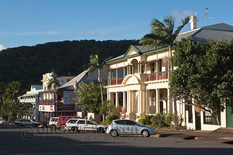 Heritage buildings on Charlotte Street.  Cooktown, Queensland, Australia