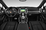 Straight dashboard view of a 2014 Porsche Cayenne Hybrid S 5 Door SUV