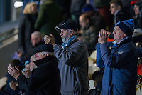Wycombe fans during the Sky Bet League 2 match between Newport County and Wycombe Wanderers at Rodney Parade, Newport, Wales on 22 November 2016. Photo by Mark  Hawkins.